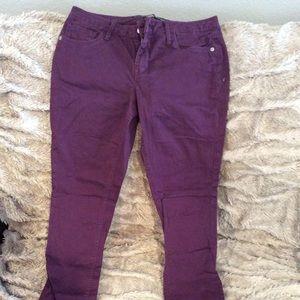 Express size 6 jeans. Like new. Purple.
